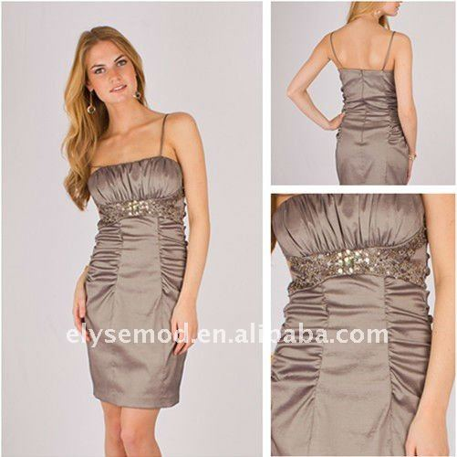 Fine Empire Spaghetti Strap Short Ruched Taffeta Party Dress Perfect Homecoming Dresses(China (Mainland))