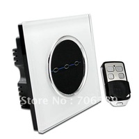 Wholesale AC110~220V 3 Gang Wireless Radio Remote Control Touch Wall Light Switch LED lndicator Free Shipping