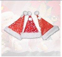 50pcs Free shipping blink christmas hat,christmas decoration