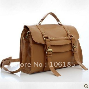 2014 new brand Freeship high quality ladies' handbag Fashion Vintage hasp leather women big black brown bags Promotion!