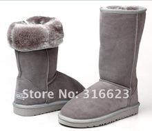 Free custom Logo+drop ship! 100% genuine Classic  sheepskin women snow boots(China (Mainland))