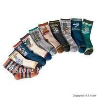 10 designs 30pairs/lot-Dinosaur Animal prints Baby socks infant cotton socks bus car design