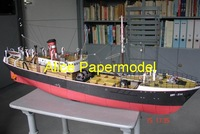 [Alice papermodel] Long 70CM mka freighter Cargo ship Ocean-going vessels models
