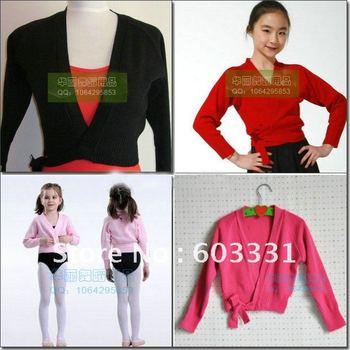 Free shipping! NWT Girls/Kids Dance Wrap Sweater Ballet Costume Gymnastics Coat Dance Skate Dress SZ 5-8Y 4 colors