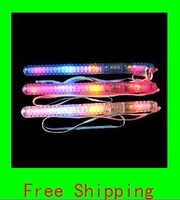 Flashing light up wand novelty toy,glow stick. 7 functions, 300pcs lot Free shipping