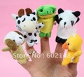60pcs/lot free shipping wholesale finger animal puppet animal finger baby toy baby dolls finger doll animal doll toy nice gift