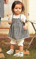 Plaid Baby Clothing set/Girl's Clothing Sets/Infant Clothing sets