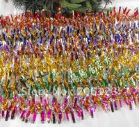 2M Christmas gold sliver lurex thread yarn Garlands Christmas festival ornaments 20PCS Free shippment