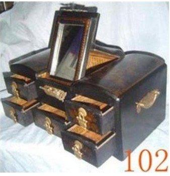 Wonerful Beautiful wedding wooden jewellery box BY EMS 100% free shipping