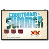 Guarantee 100% high quality and fashion design LED countdown clock outdoor