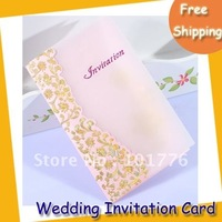 Drop shipping western wedding invitation card wedding card 100pcs/lot free shipping