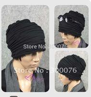 unisex Baggy hat ski Beanie Skull Rasta Knit Wraps wrinkle cap
