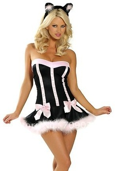 Wholesale! FREE SHIPPING!(10pieces) Kitty Fancy Dress Costumes Cat Halloween