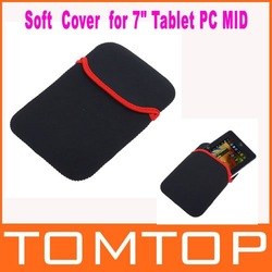 Soft proteger tecido saco caso bolsa capa para 7&quot; tablet pc mid notebook cor preta, livre shipping+drop transporte por atacado