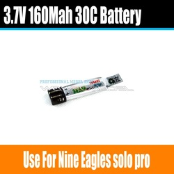 3E Max Force 30C 160mAh 1Cell/1S 3.7V Li-Po Rechargeable Battery For Nine Eagles Solo Pro Helicopter(China (Mainland))