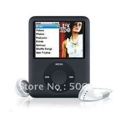 Free shipping new 8GB Slim 1.8&quot; LCD 3th FM Video MP4 MP3 Player+Gift(China (Mainland))