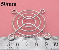 100 Pcs Per Lot / Metal Wire Finger Guard  50mm 5cm CPU Fan DC Fan Grill / Guard Protector for PC Silvery Tone