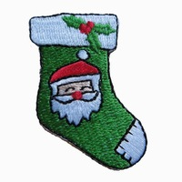 Client's design are welcome,Christmas embroider patch, sew on,pvc or iron on backing,twill, MOQ 50pcs,high quality,free shipping