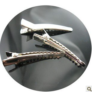 Free shipping Wholesale 4.5 cm silver alligator clips, DIY hair clips, DIY accessories