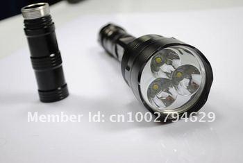 3pcs/lot Wholesale---TrustFire TR-3*T6 CREE XM-L 3800LM 5-Mode LED Flashlight (3*18650)