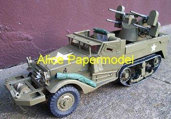 [Alice papermodel] Long 23CM 1:25 M16 MGMC Half Truck armed vehicle Infantry fighting vehicles Main battle tank models