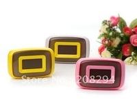 wholesale free shipping,5 pcs/lot,sound control colorful clock,Calendar,Color Change Clock