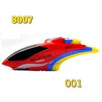 Free shipping 8007 head cover canopy red blue yellow rc spare parts accessories for 20cm rc helicopter QS8007 QS-8007