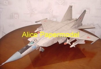 [Alice papermodel] Long 85CM 1:24 Russian fighter Mig-25 Mig25 Ground attack aircraft warplane models