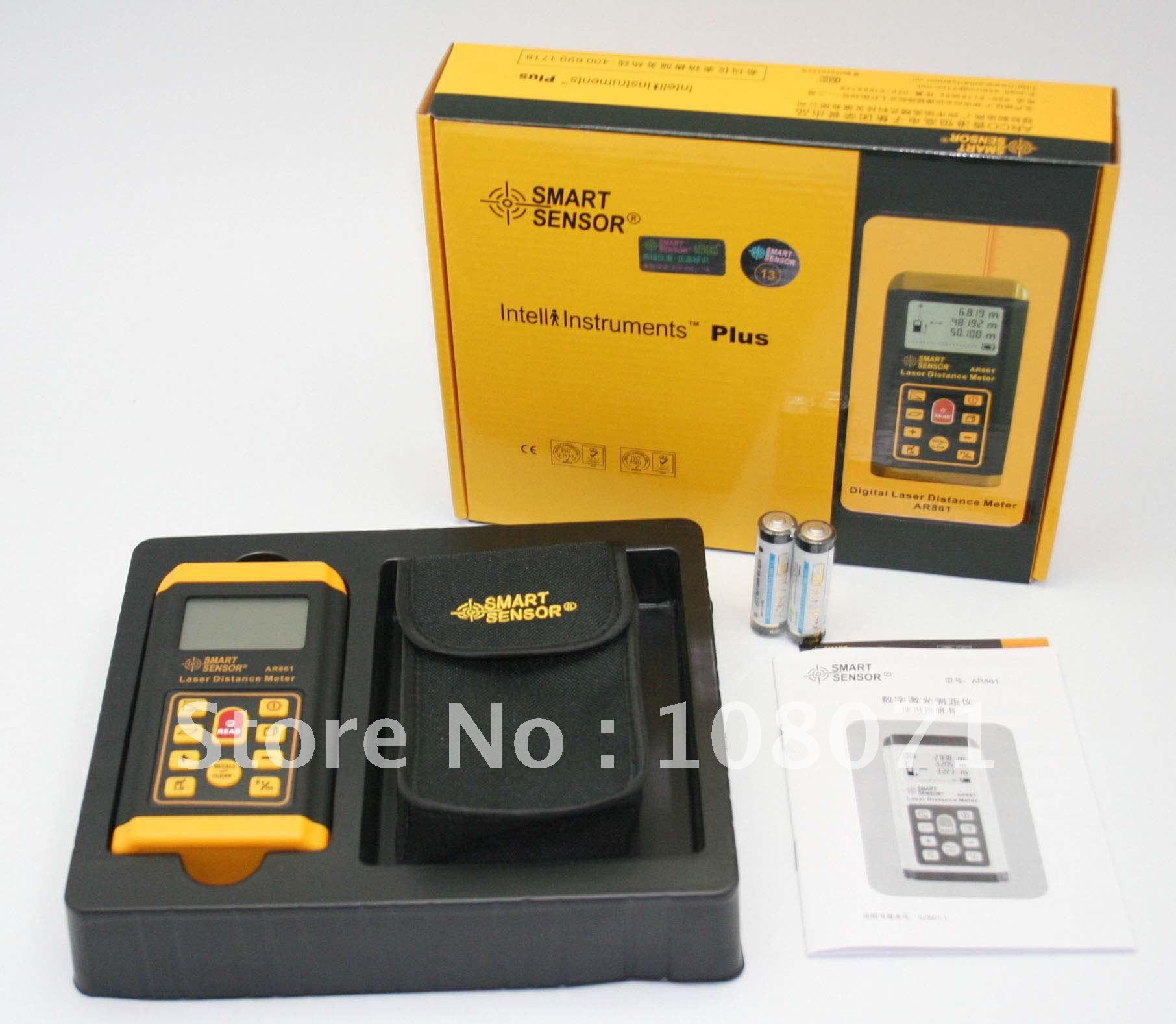 Measuring & Gauging Laser Distance Meter Smart Sensor AR861 Tester,Free shipping!!!(China (Mainland))