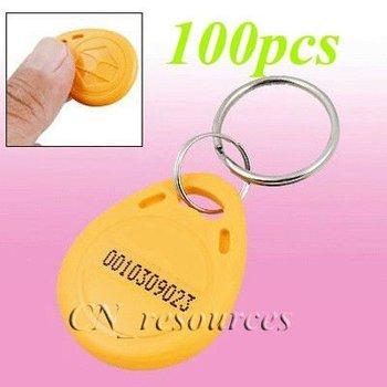 PVC Cards Manufacturer 100pcs 125Khz RFID Proximity ID Token Tag Key Keyfobs free shipping