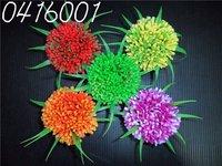Free shipping 20pcs/bag multicolor plastic aquarium flower