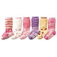 6 designs 30pairs/lot Flowers prints Baby socks infant cotton Kids socks