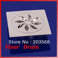 Bathroom Kitchen Shower Sink Square Floor Drain Outlet Waste Grate Strainer