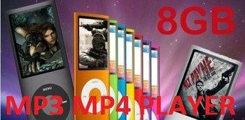 "Slim 1.8""LCD MP3 MP4 8GB FM Radio Player"