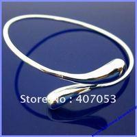 B005 hotsale 925 silver circle bangle cuff bracelet fashion jewelry free shipping