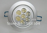 1*7W LED lightings\LED Ceiling light\LED lamp\30 thousands hours long life can make light non-stop work for mearly 3yea