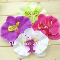40 pc/lot Orchid Flower Hair clips Bridal Hawaii Party Girl fascinator artificial flowers white hotpink purple green FL032