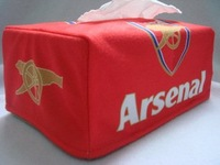 arsenal towel sets/suede tissue box cover 1 piece