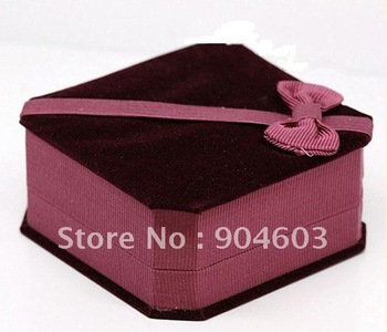 12 pcs/lot free shipping Christmas Holiday Gift Velvet Jewelry Boxes Necklace Box J022