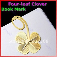 Reading Four-leaf Clover Metal Clip Bookmark Gift Book Mark For Kids