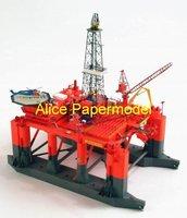 [Alice papermodel] 1:250 Offshore oil drilling platform ship cargo ship Passenger liner models
