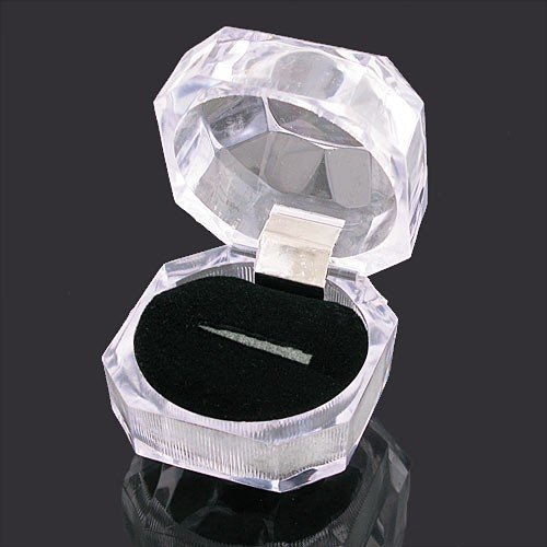 Wholesale ~ Jewelry equipment ring box christmas gift package Acryl crystal material(China (Mainland))