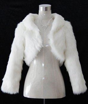Free shipping Wholesale - Ivory Faux Fur Wedding Shawl Wrap Jacket Coat Scarves
