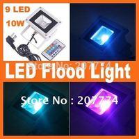 Free Shipping 1 PCS 10W RGB Flash Landscape Lighting LED Flood Light Floodlight