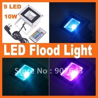 Free Shipping 1 PCS 10W RGB Flash Landscape Lighting LED Flood Light Floodlight
