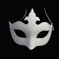 EMS Free Shipping (50pcs/lot) DIY Blank White Pulp Party Masks Crown Style Hand-painted Fancy Masks Accepty Mixed Order