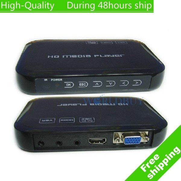 High Quality USB Full HD 1080P HDD Media Player HDMI VGA MKV H.264 SD - sample Free Shipping HKPAM CPAM(China (Mainland))