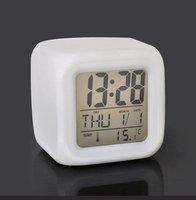 Free shipping-LED Colorful Clock