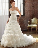 Free shipping best selling sweetheart appliques wedding dresses Bridal Gowns custom size&color