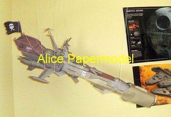 [Alice papermodel]Long 1.2 meter Space Corsair Pirateship spaceship battleship yamato Science fiction vehicle models